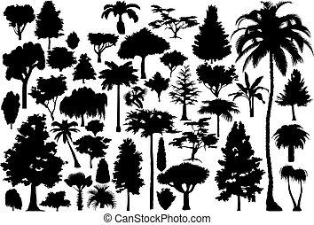 träd, (vector)