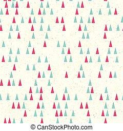 träd, vektor, pattern., jul, seamless