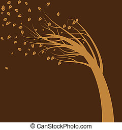 träd, vind blåsa