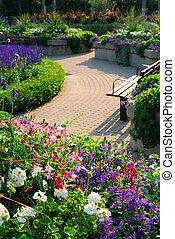 trädgård, formell