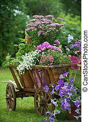 trädgård, idyllisk