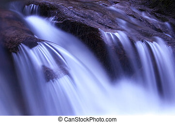 trädgård, vattenfall
