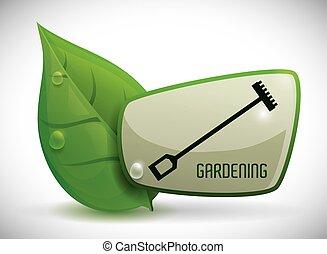 trädgårdsarbete, design