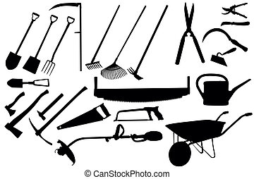 trädgårdsarbete verktyg, kollektion
