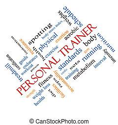 Tränare, Meta, begrepp, ord, personlig, moln