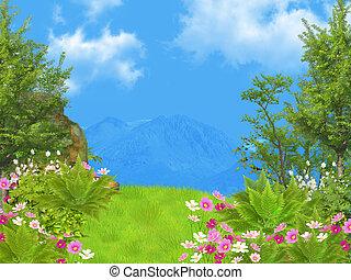 träumerisch, landschaftsbild