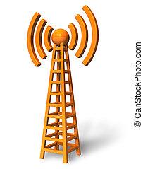 trådlöst meddelande, torn