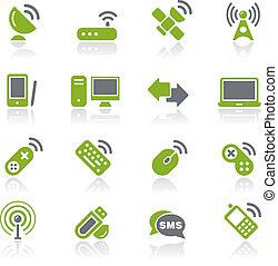 trådløs, kommunikationer, natura, /, og