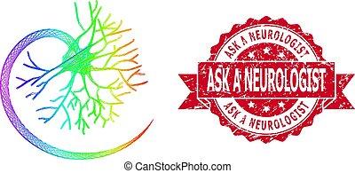 trångmål, försegla, nät, lgbt, neurologen, fråga, neuron, färgad