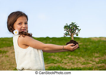 træ, begreb, by, natur, og, invironment