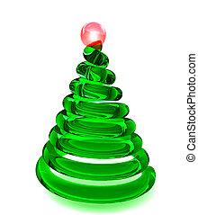 træ christmas, ind, glas