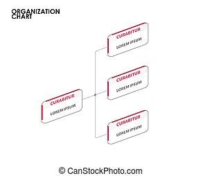 træ., kort, illustration, vektor, infographics, organisation