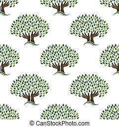 træ, pattern., seamless, håb