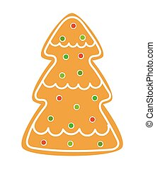 træ, småkage, jul