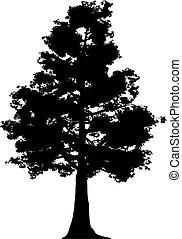 træ, (vector)