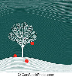 træ vinter, æble