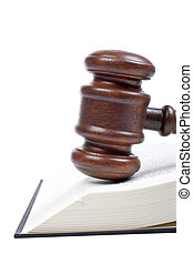 træagtig gavel, og, juridisk bog