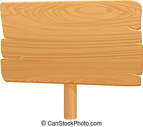 træagtig planke, ikon, på hvide, backgrou