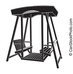 træagtig stol, svinge