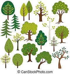 træer, clipart