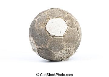 très, isolé, boule football, vieux