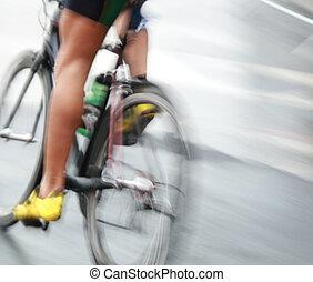 très, jambes, vélo, jeûne
