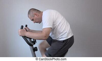 très, jeûne, vélo, utilisation, exercice, homme
