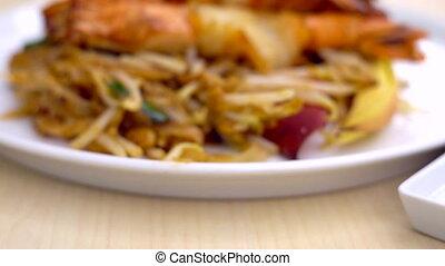 très, nourriture, thaï, tampon, famouse