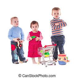 três crianças, jogo