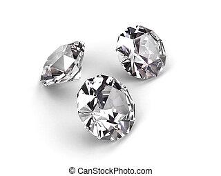 três, diamantes