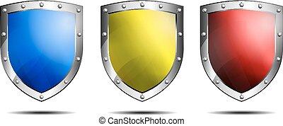 três, escudos