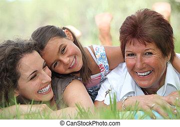 três gerações, mulheres