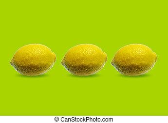 três, limões