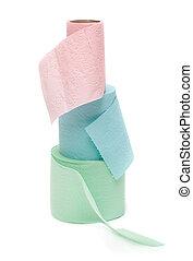 três, rolos, de, a, papel higiénico