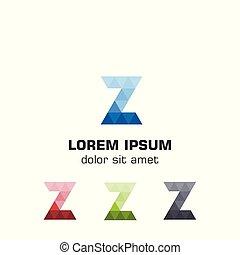 trójkąt, szablon, logotype., początkowy, wektor, litera, logo