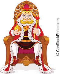 trón, király