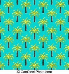 trópico, árboles de palma, seamless, vector, pattern.
