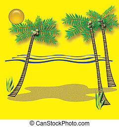 trópico, vacaciones de playa