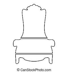trône, icône