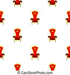 trône, modèle, royal, rouges, plat