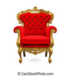 trône, roi, chaise