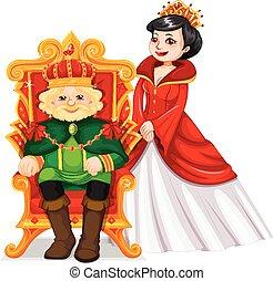 trône, roi, reine