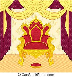 trône, royal