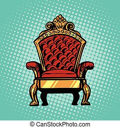 trône, symbole, royal, puissance