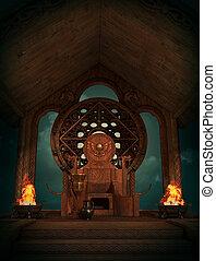 trône, teutates, cg, 3d