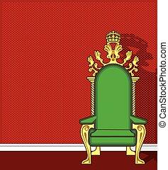 trône, vecteur
