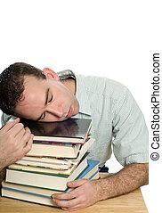 trött, av, studera