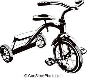 Tr-Cycle - This is a vector graphic of a child's tricycle.