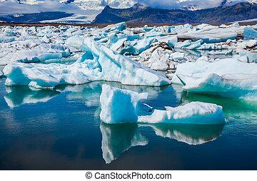 tração, gelo, lagoa