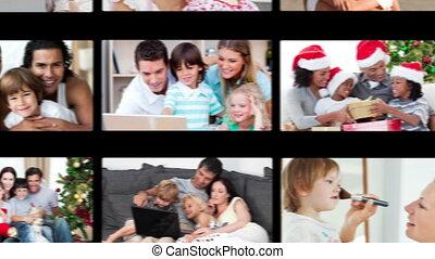 traîner, famille, vidéos, main